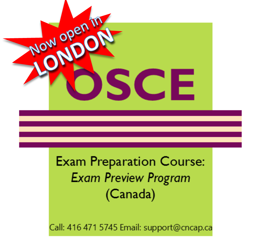 Nursing OSCE Exam Review IENCAP Prep now open in London Ontario
