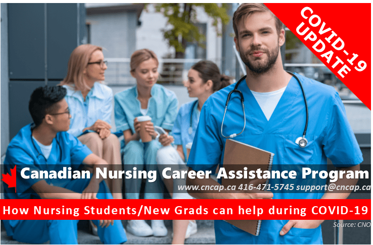 CNCAP - How Nursing Students/New Grads can help during COVID-19 (Source: CNO.org